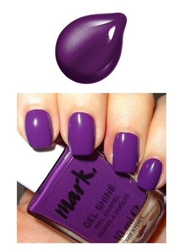 Avon Mark Gel Shine Oje Purplicious Mor